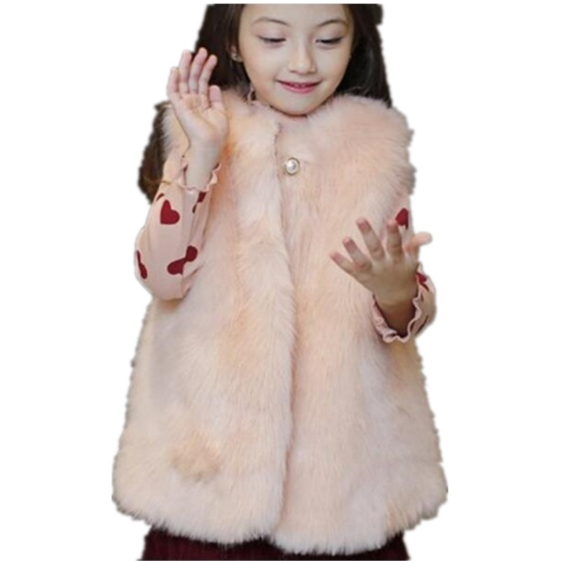 33b91be94 Furry Baby Girl Boy 2018 Autumn Winter Clothes Infant Faux Fur Vest ...