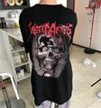 2017 New VETEMENTS Heavy Melal large skeleton loose T-shirt lovers men and women short-sleeved
