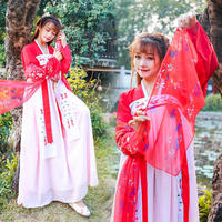 New Arrive Women Hanfu Costume Chinese Traditional Folk Ancient Costume Lady Vintage Orient Tang Dynesty Cosplay Costume DWY1163