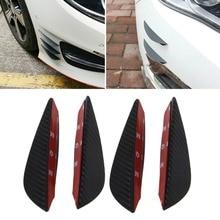 цена на Universal Fit Front Bumper Lip Splitter Fins Body Spoiler Canard Valence Chin 4PCS/SET A29_17