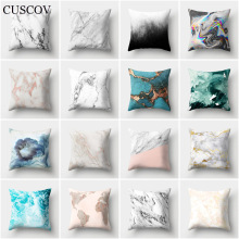 CUSCOV new geometric sofa cushion cover marine landscape picture polyester wedding decoration pillow case home gift
