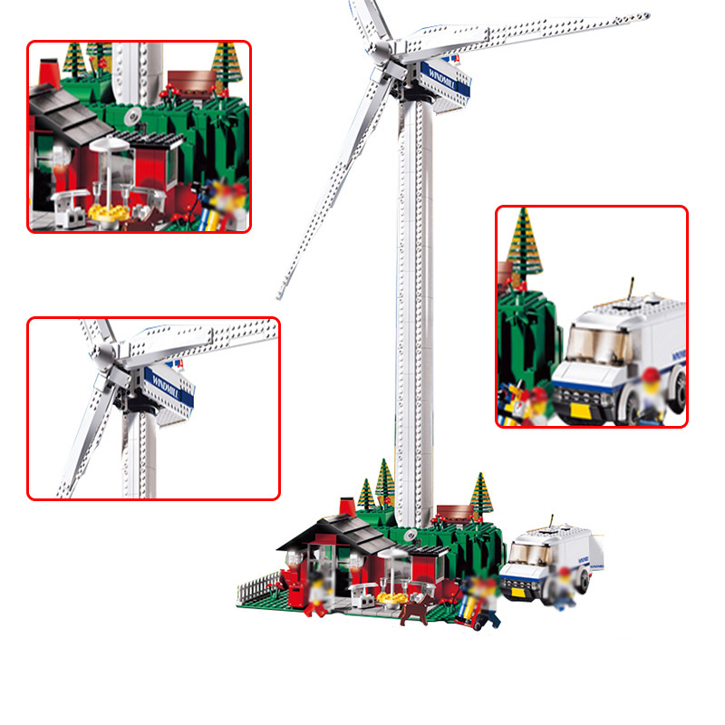 Education Building Blocks Retro Vestas Turbine Windmill Model Bricks Toys For Children Compatible Lepin Creative Series 37001 lego education 9689 простые механизмы