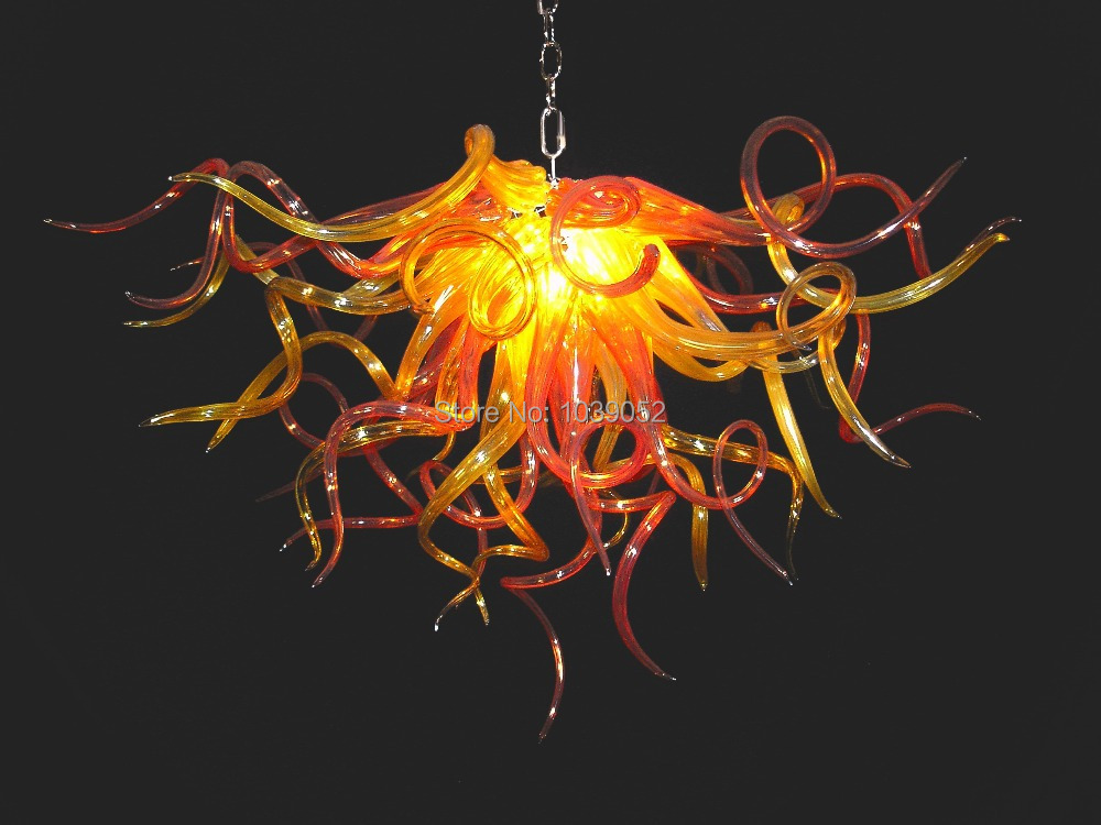 New Arrival 2015 Handmade Blown Glass Iron Chandelier