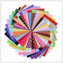 Shuanshuo Printed Pattern Felt Fabric 1mm Thickness Polyester Cloth For DIY Sewing Dolls Home Decoration 80pcs/lot 15x15cm