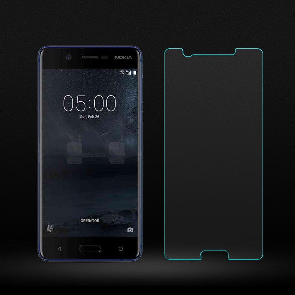 2.5D изогнутый край Экран для Nokia 5 защиты спереди Плёнки для Nokia 5 закаленное Стекло спереди Плёнки против царапин 0.26 мм HD 2 шт./упак.