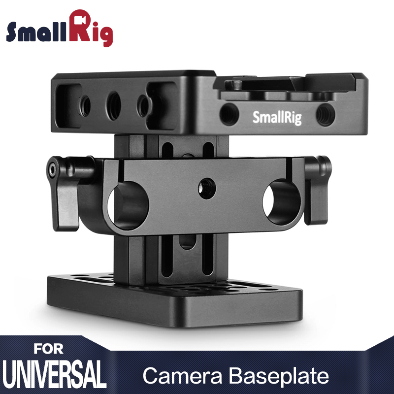 SmallRig DSLR Camera Baseplate ( Manfrotto Style ) with 15mm Rail Support System Quick Release Plate Light Weight Adjustable2039