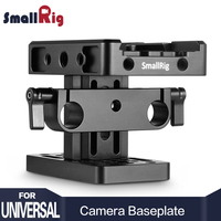 SmallRig DSLR Camera Stabilizer Baseplate ( Manfrotto Style ) with 15mm Rail Support System Video Quick Release Plate 2039