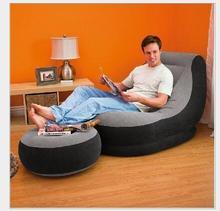 Inflatable beanbag sofa leisure lunch siesta recliner single send pedal