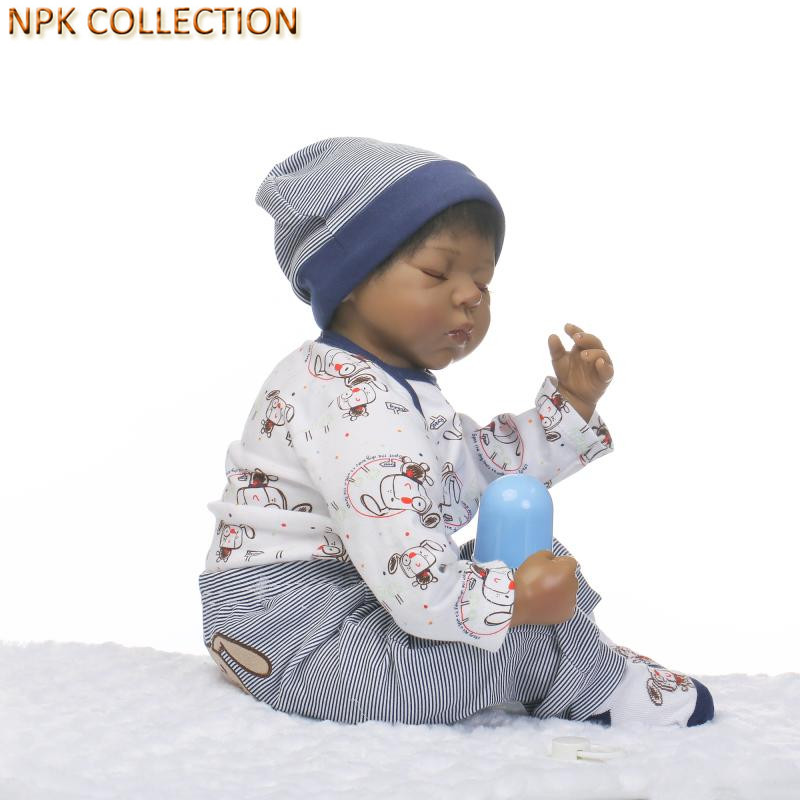NPKCOLLECTION 45CM Silicone Reborn Babies Bonecas Reborn Baby Alive Dolls for Girls Toys Lifelike Baby Born Dolls with Clothes
