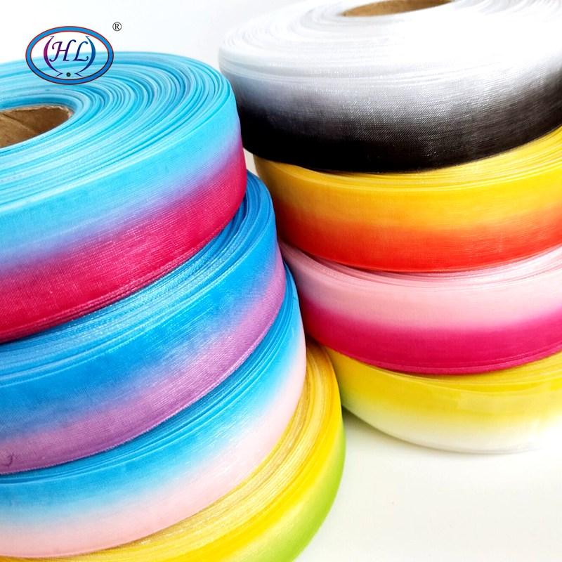 HL мм 25 мм 8 м/лот двухцветные органза ленты Свадебные декоративная подарочная коробка упаковка DIY аксессуары для волос