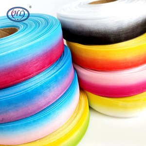 HL 25MM 8 Meters/lot Two-tone Organza Ribbons Wedding Decorative Gift Box Wrapping DIY Hair Accessories(China)