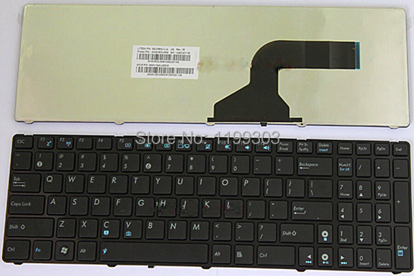 Genuine laptop keyboard for asus K52 US black version on sale