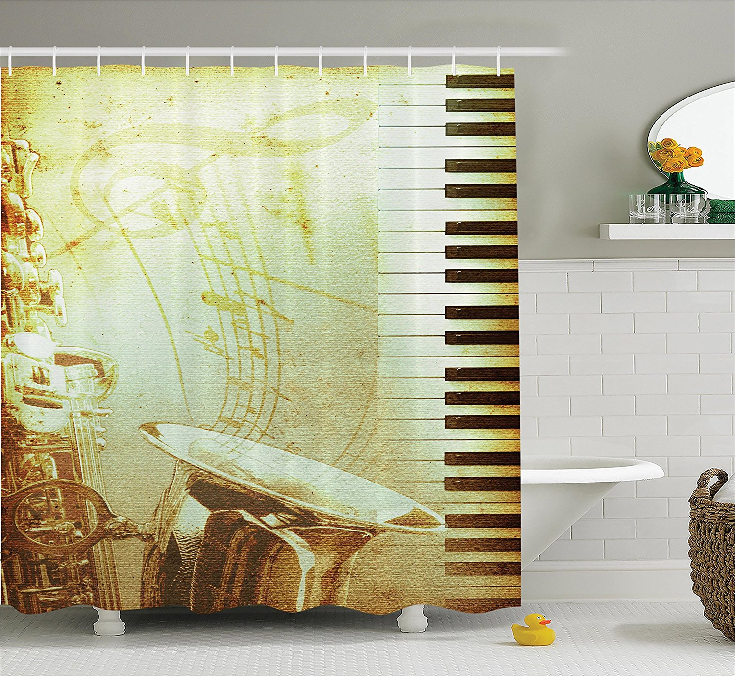 sports equipment football soccer darts ice hockey baseball basketball image print polyester fabric bathroom shower curtain