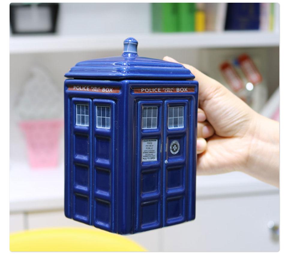 Doctor Who Tardis Police Box Ceramic Mug Cup With Lid Cover For Tea Coffee Mug Funny Creative Gift Christmas Presents Kid Men (9)