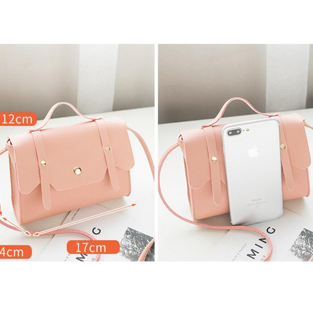 Women's Fashion Leather Simple Solid Handbag Small Shoulder Bags Crossbody Bags for Girls Messenger Bags Phone Coin Bag zk30