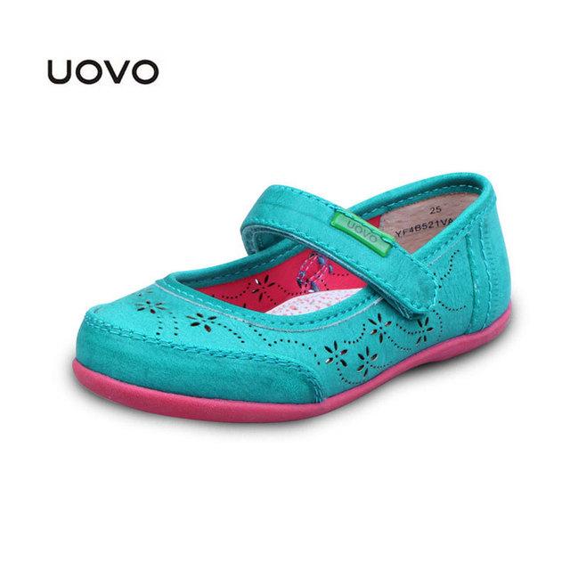 Niños zapatos de vestir nueva uovo diseñador de la marca zapatos de la princesa hueco primavera verano de cuero sandalias de bebé sandalias de las muchachas size25-33 ue