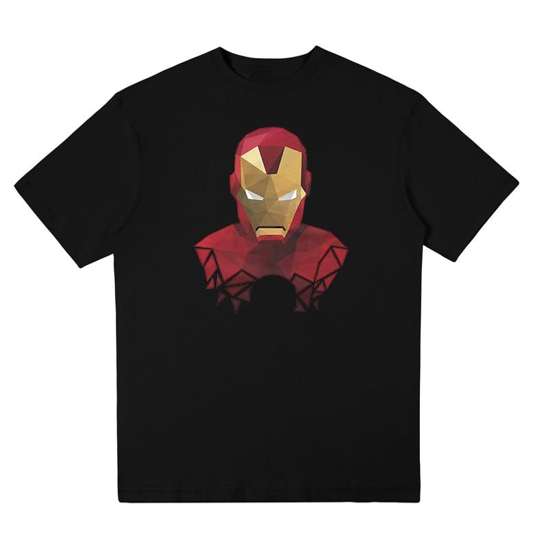 Marvel Avengers iron man T shirt iron man face t-shirt suprehero Legends unisex short sleeve tee shirt Cotton free shipping
