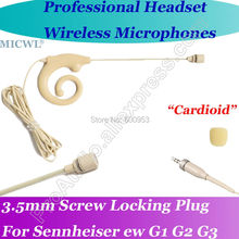 MICWL Professional Headset Cardioid Microphone Mic for Sennheiser G1 G2 G3 Wireless fender potentiometer t v no load 250k split shaft stratocaster 1