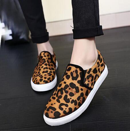 Size  Women S Leopard Print Slip On Shoes