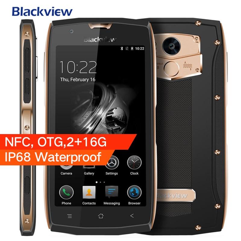 Оригинал Blackview <font><b>BV7000</b></font> Android 7,0 <font><b>IP68</b></font> Водонепроницаемый мобильного телефона MTK6737T 5 &#8220;FHD 2 г + 16 г отпечатков пальцев gps NFC OTG Смартфон