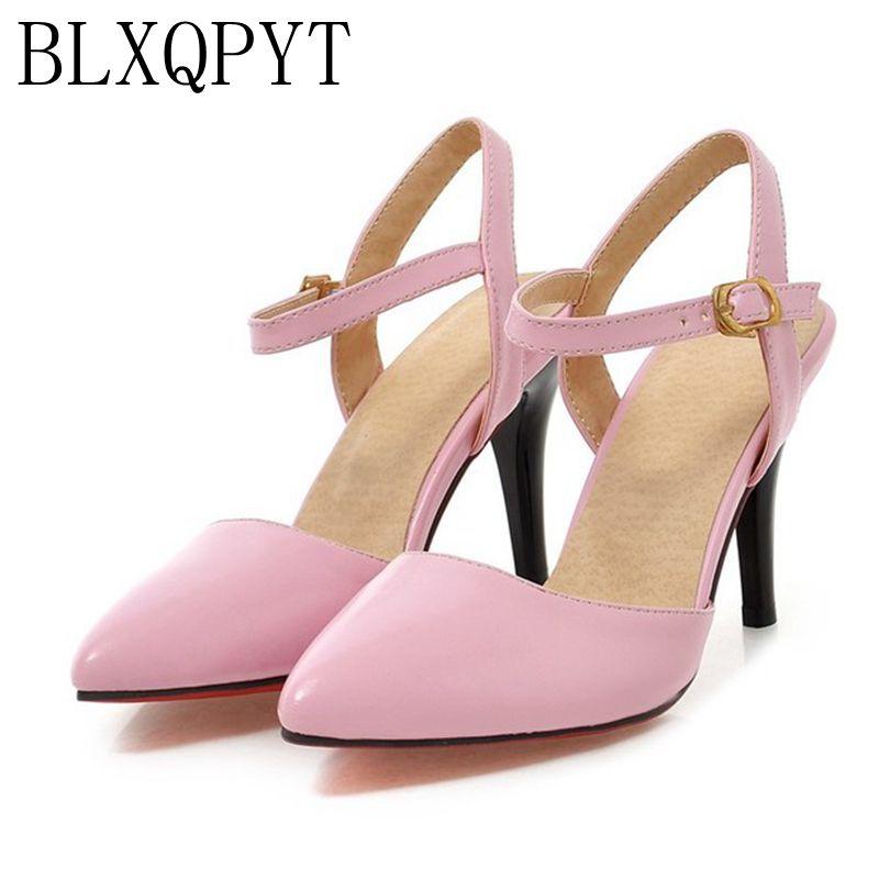 BLXQPYT 2017 Hot Sale Sandalias Mujer Plus Dimensiune mare 31-47 Pantofi femei Femei înalte Pompe pentru toc Heart Chaussure 1391