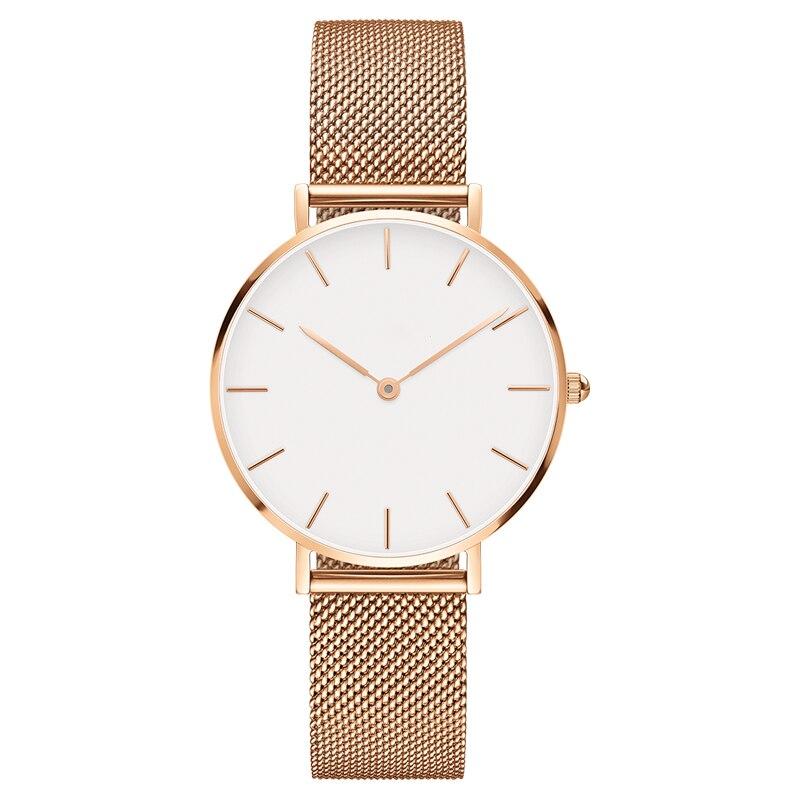 Fashion Women's Watch Brand Luxury 32mm DW Watch Style Quarz Watch Rose gold Mesh Strap Watches Reloj Hombre Relogio Masculino lg watch style w270 rose gold