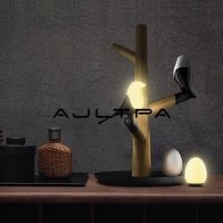 LED Nacht Tisch Schreibtisch Schlafzimmer Licht Lampe Drahtlose Lampen Glück Vogel Elster USB Aufladbare Motion Sensor Hochzeit Weihnachten Geschenk