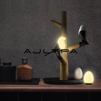 LED Night Table Desk Bedroom Light Lamp Wireless Lamps Lucky Bird Magpie USB Rechargeable Motion Sensor Wedding Xmas Gift