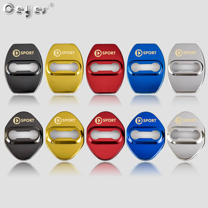 Ceyes Car Styling JDM Door Lock Cover Accessories Case For Daihatsu D Sport Logo Terios Sirion For Mazda Auto Buckle Car-Styling