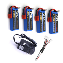 VHO 4pcs SYMA X8 X8C X8C-1 X8W battery 7.4 V 2000mah 2S li-po battery + UL charger Spare part Quadcopter Drone helicopter
