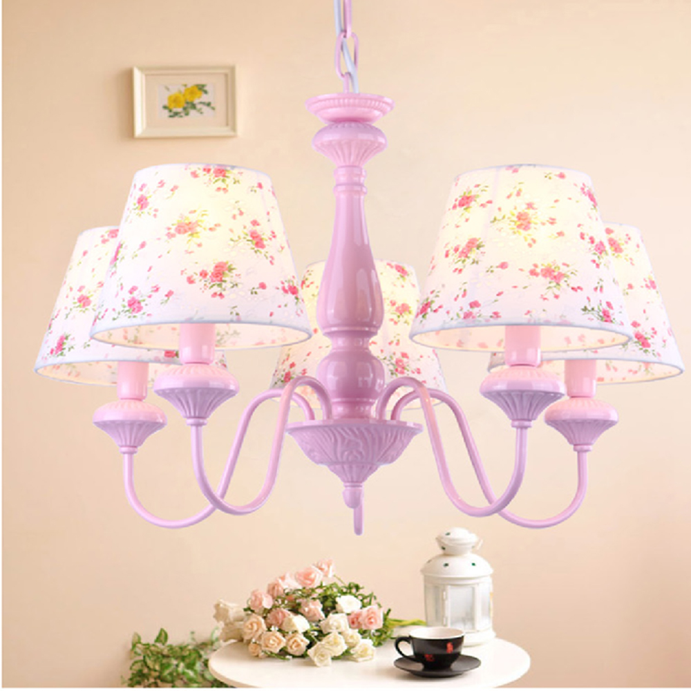 Contracted Fashion Chandeliers For The Bedroom Led Chandelier Kids Room  Lights Led E14 110 220V Lamp