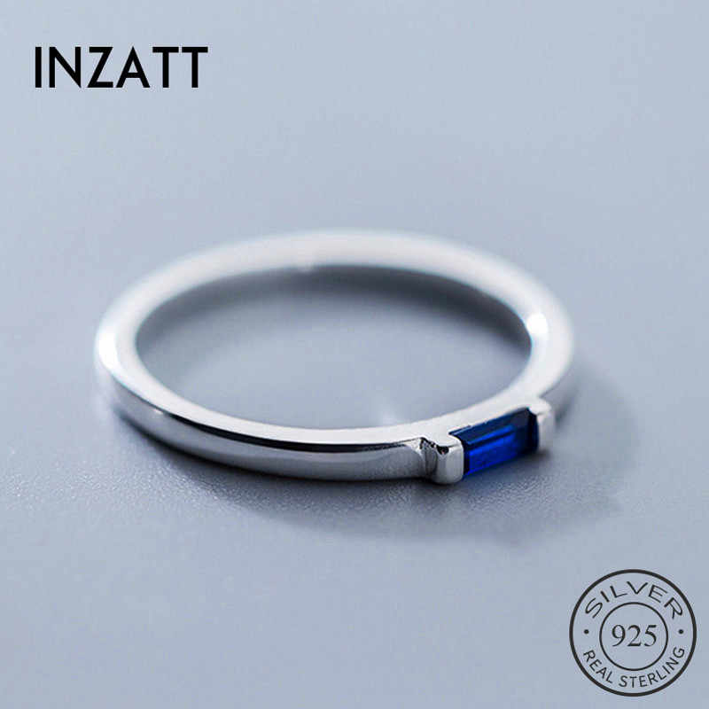 INZATT Real 925 Sterling Silver Blue Zircon รูปสี่