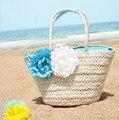 Женщины кожаные сумки новое прибытие продвижение bolsa 2016 женщин сумки большой цветок соломы сумка пляжные сумки бесплатная доставка