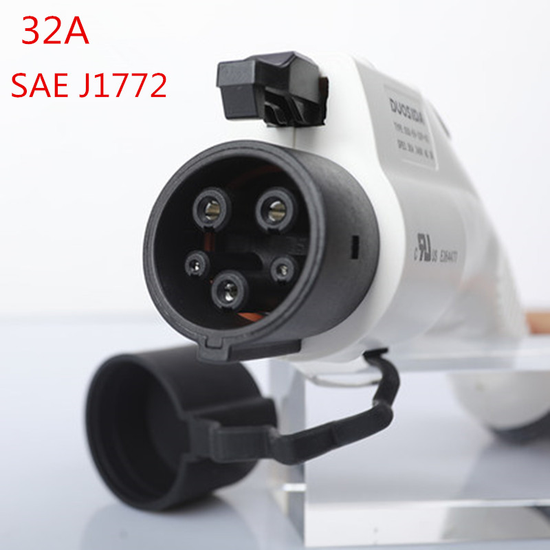 32A SAE J1772 Type 1 Female Male EV PLUG Connector for Electric Car Charging Charging Station AC EV Charger Plug Evse [abb] industrial connector plug 432p6w 32a five mobile industry