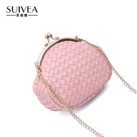 SUIVEA Brand Women Handbags Lady Style Weave Craft Knitting Wallet Small Lock Designer For Female Purse