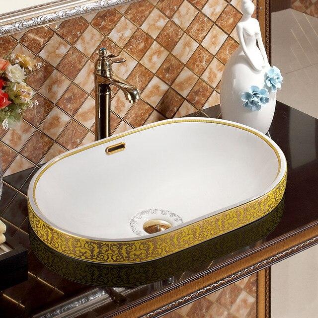 Jingdezhen Keramik Waschbecken Waschbecken Handgemachte Waschbecken