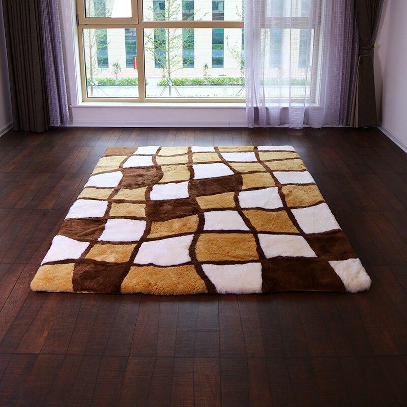 Personnalisé Pure laine salon tapis laine peau de mouton couverture matelas style européen espace