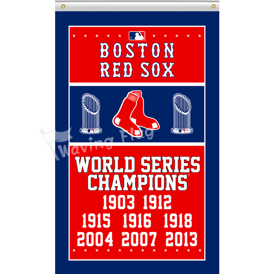 Boston Red Sox World Series Champions Flag 3x5ft Polyester MLB custom flag