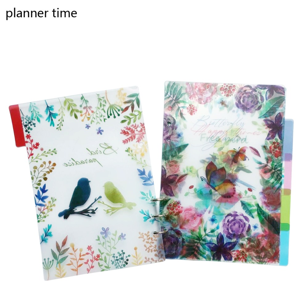 Planner Time A5/A6 6 Holes Colored Notebook's Index Page 5pcs/set Matte Spiral Book Category Page Office Planner Accessories