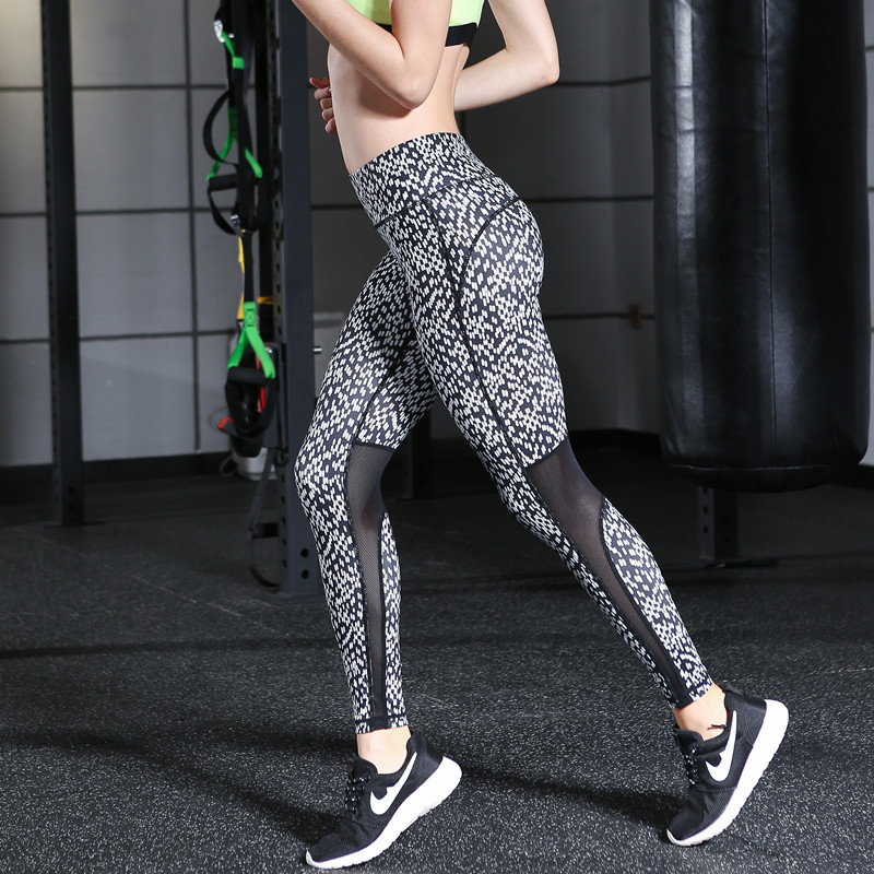 Yoga Sports Pants 2017 Sexy Tall waist Stretched Gym Clothes Spandex Running Tights font b Women