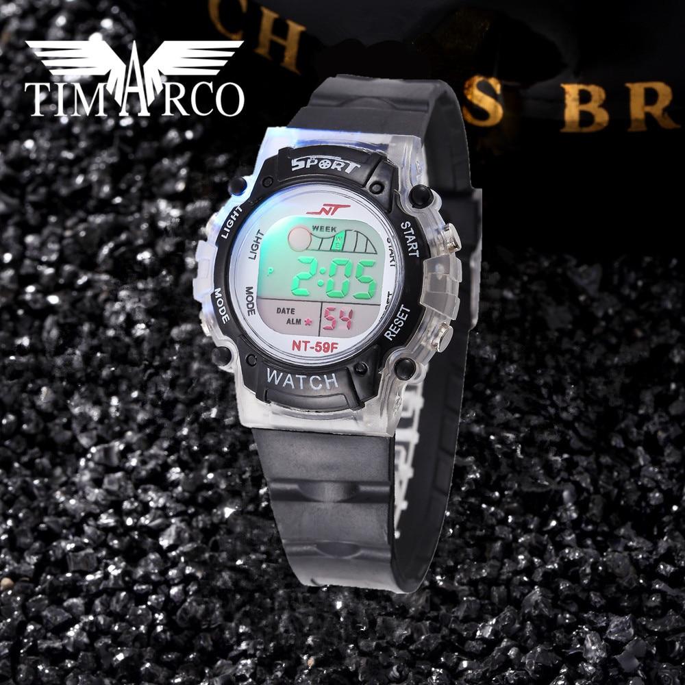 Popular LED Digital Sport Watches Unisex Enfant Ceasuri Daily Waterproof Fashion Leisure Boys Girls Clocks Multi-function Rejor