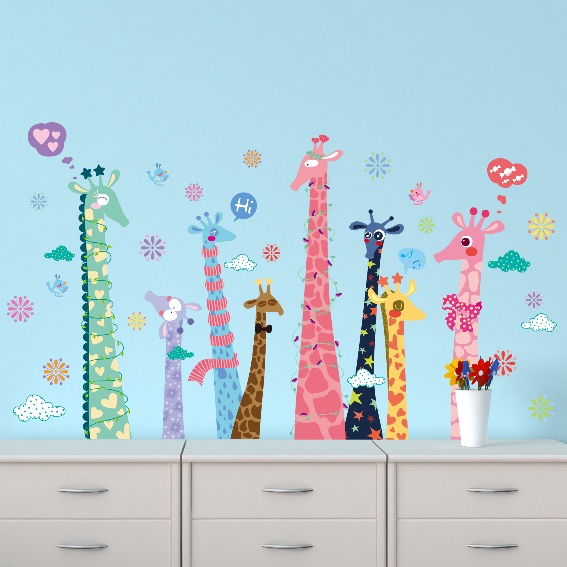 Best Wallpaper Colorful Giraffe - Colorful-color-giraffe-Wallpaper-For-Kids-Rooms-Home-Decor-Art-Decals-3D-Sofa-Bedroom-house-decoration  Image_469440 .jpg