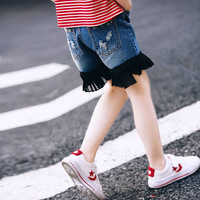 Girl Cowboy Summer New Pattern Tight Children Lace Sandy Beach Kids Shorts