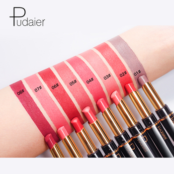 Pudaier Matte Lipstick Wateproof Double Ended Long Lasting Lipsticks Brand Lip Makeup Cosmetics Nude Dark Red Lips Liner Pencil 5