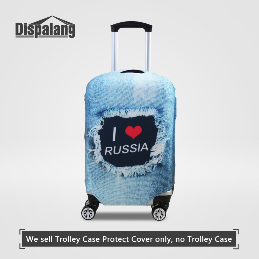 Cute Blue Undersea Print Luggage Protector Travel Luggage Cover Trolley Case Protective Cover Fits 18-32 Inch