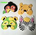 HAPPYXUAN 10pcs/lot Cartoon Animal EVA Mask For Kids Christmas Halloween Party New Year Toys For Children Learning Education