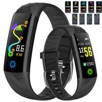 2018 Новый Фитнес умный Браслет Цвет Экран IP68 Водонепроницаемый Смарт часы сердечный ритм крови Давление Монитор кислорода Smart Band + box
