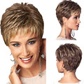 New Fashion Sexy Short Natural Fluffy Golden Full Wig Womens Cosplay Wigs Girl Gift