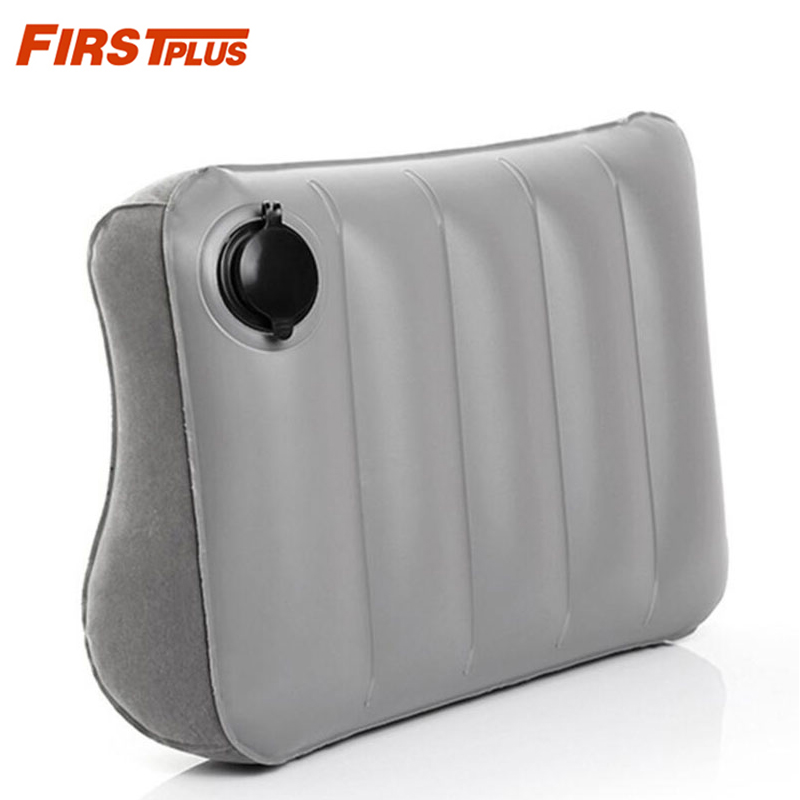 Inflatable Portable Car Seat Lumbar Support Folding Air Seat Cover Waist Cushion For Office Chair Auto Airplane Travel