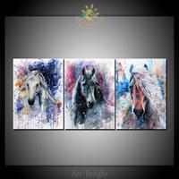 3 pièce D'art Abstrait Chevaux Toile Art Mur Photos Impressions Sur Toile Peinture des Motifs Mur Pictures Home Décoration